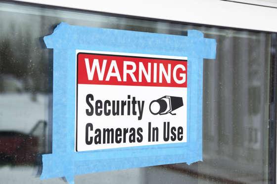 Warning Security Cameras