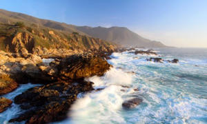 Big Sur at sunset (Dreamstime): Big Sur at sunset.