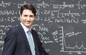 Prime Minister Justin Trudeau walks on stage to make an announcement at the Perimeter Institute for Theoretical Physics in Waterloo, Ont., on Friday, April 15, 2016.