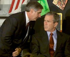 CORRECTED CAPTION BUSH DESTINATION INCORRECT U.S. President George W. Bush liste...