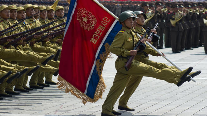Research by the South Korean government suggests that North Korea spends a staggering 33% of its GDP on defense, the largest proportion of any country in the world. The USA in contrast devotes just 3.2% of its GDP to military spending.