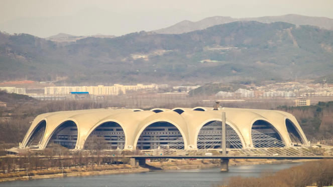 Along with statues of the three Kims, the North Korean regime likes to supersize its stadia. Pyongyang's Rungrado 1st of May Stadium is in fact the largest in the world with a capacity of 150,000.