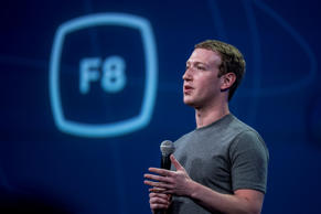 Mark Zuckerberg, chief executive officer of Facebook Inc., speaks during the Facebook F8 Developers Conference in San Francisco, California, U.S., on Wednesday, March 25, 2015.
