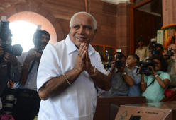 BS Yeddyurappa caught on cam giving cash