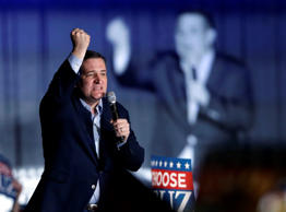 Republican presidential candidate Sen. Ted Cruz, R-Texas, speaks during a rally ...
