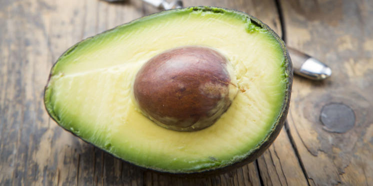 32) Avocado: Don't let your toast get lonely—avocados' fatty acids have the power to stimulate collagen. You can actually apply it directly to your scalp for a little hair makeover.
