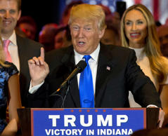 Donald Trump claims Republican nomination