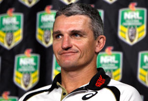 Panthers coach Ivan Cleary speaks to the media during a NRL Finals series press conference at Rugby League Central on September 22, 2014 in Sydney, Australia