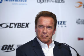 Actor and former Governor of California Arnold Schwarzenegger speaking at the Arnold Classic Sports Festival Press Conference on March 18, 2016 in Melbourne, Australia