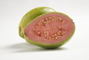 <p>Don't pass up on these wacky-looking super fruits—they have about four times the Vitamin C of an orange which increases collagen for a smooth appearance and bright complexion. Guava's anti-aging properties and ability to reduces fine lines should make it a regular in your diet.</p>