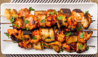 <p>Marinate the chicken in a quick savory mixture of tomato paste, olive oil, lo...