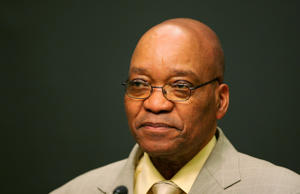 Jacob Zuma addresses a news conference in Cape Town, South Africa June 14, 2005.