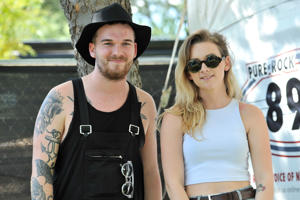 "<span style=""font-size:13px;"">Georgia and Caleb Nott of The Broods.</span>"