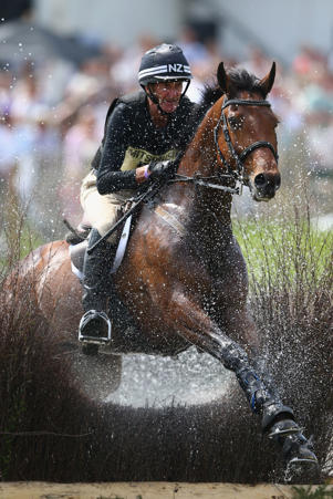 Sir Mark Todd rides at Badminton.