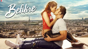 Ranveer Singh and Vaani Kapoor starrer Befikre's first poster has released and fans will be more than surprised to see the lead couple indulge in a French kiss. They are seen sitting on the roof of a tall building in France as we see Eiffel Tower far in the background.