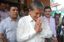 File: Congress leader Harish Rawat visits Tapkeshwar temple in Dehradun, on May 9, 2016.