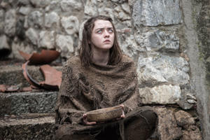 This image released by HBO shows Maisie Williams as Arya Stark in a scene from Game of Thrones.