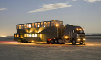Estimated Price: $2,000,000-plus<br>If you want the ultimate mobile home, it might as well be built on the largest mobile platform: a full-size tractor trailer. That's what Anderson Mobile Estates does, and the results are quite stunning. Often available to Hollywood stars for use on movie sets, these land yachts have multiple slide-out compartments and are typically two stories (the upper floor emerges via electric motors in about 30 seconds). An Anderson Mobile Estate is about 75 feet long, weighs around 40 tons and offers as much as 1,200 square feet of living space. These extreme RVs have been used by Hollywood A-listers such as Will Smith, Ashton Kutcher, Vin Diesel and Robert De Niro.