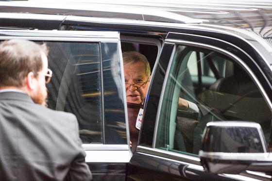 Former U.S. House Speaker Dennis Hastert arrives for sentencing on April 27, 2016 at Dirksen U.S. Courthouse in Chicago. (Zbigniew Bzdak/Chicago Tribune/TNS)