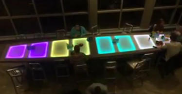 Video still of dining hall table at the University of New Hampshire.