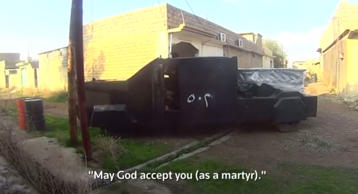 Footage taken from an ISIS soldier shows fighters for the Islamic State in battl...