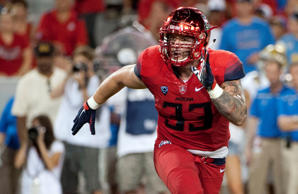 Sep 26, 2015; Tucson, AZ, USA; Arizona Wildcats linebacker Scooby Wright III (33) during the fourth quarter against the UCLA Bruins at Arizona Stadium. UCLA won 56-30.