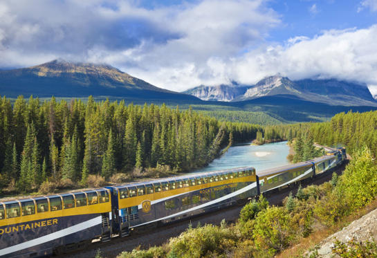 Slide 1 of 19: Rocky Mountaineer