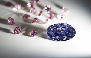 A rare violet uncut diamond discovered in August 2015 at Australia's remote Argyle mine.