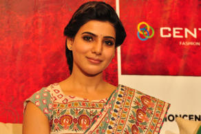 Samantha at Centro Brahmotsavam Collections Launch