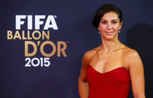 Houston Dash's Carli Lloyd of the U.S., female nominee for the 2015 FIFA World Player of the Year, arrives on red carpet for the FIFA Ballon d'Or 2015 awards ceremony in Zurich, Switzerland, January 11, 2016. REUTERS/Arnd Wiegmann