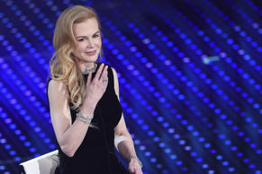 SANREMO, ITALY - FEBRUARY 10:  Nicole Kidman attends second night of the 66th Festival di Sanremo 2016  at Teatro Ariston on February 10, 2016 in Sanremo, Italy.  (Photo by Venturelli/Getty Images)