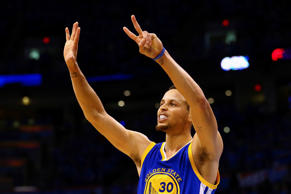 Stephen Curry #30 of the Golden State Warriors gestures during the second half against the Oklahoma City Thunder in game six of the Western Conference Finals during the 2016 NBA Playoffs at Chesapeake Energy Arena on May 28 in Oklahoma City, Oklahoma. Golden State won 108-101.