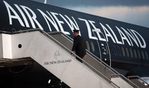 New Zealand's benchmark stock index hit a record high, led by Air New Zealand