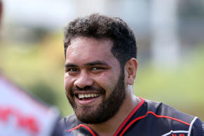 Konrad Hurrell of the Warriors looks on during the round five NRL match between the Sydney Roosters and the New Zealand Warriors at Central Coast Stadium on April 3, 2016 in Gosford, Australia