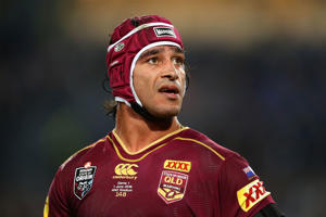 Johnathan Thurston of the Maroons looks on during game one of the State Of Origin series between the New South Wales Blues and the Queensland Maroons at ANZ Stadium on June 1, 2016 in Sydney, Australia