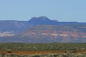 The area known as the Bears Ears is seen on April 7, 2016 east of Blanding, Utah. Native American tribes are pushing the Obama administration to declare national monument status for the Bears Ears region of Utah which has caused controversy among local residences and Utah political leaders.