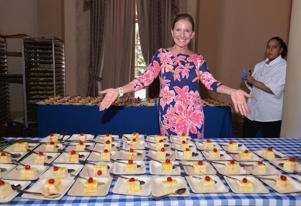 CORAL GABLES, FL - FEBRUARY 28: Kim Daisy serves Daisy Cakes at Goya Foods' Swine & Wine Presented By The National Pork Board Hosted By Lorena Garcia - 2016 Food Network & Cooking Channel South Beach Wine & Food Festival presented by FOOD & WINE 2016  at