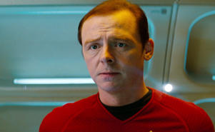 Simon Pegg as Montgomery 'Scotty' Scott in the 2013 movie, 'Star Trek: Into Darkness.'