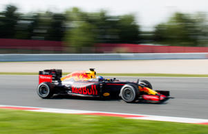 Max Verstappen in action during day two.