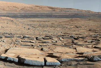 Surface of Mars taken by NASA's Curiosity rover