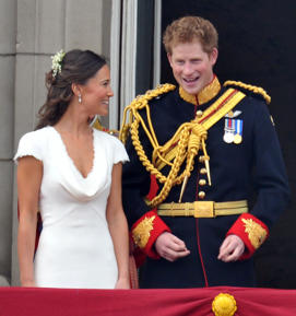 Prince Harry with Pippa Middleton.
