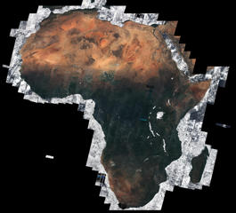 Using almost 7000 images captured by the Sentinel-2A satellite, this mosaic offers a cloud-free view of the African continent – about 20% of the total land area in the world. The majority of these separate images were taken between December 2015 and April 2016, totaling 32 TB of data.