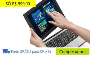 Notebook 2 em 1 Touch Positivo Duo ZX3040
