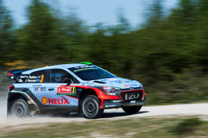 Hayden Paddon competes in the Rally of Portugal.