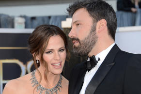 Star couple Jennifer Garner and Ben Affleck arrive at the 85th Oscars ceremony.