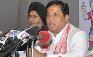 File: Union Sports Minister Sarbananda Sonowal addresses a press conference in Guwahati, on May 17, 2016.