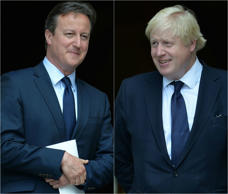 Prime Minister David Cameron (left) and Boris Johnson