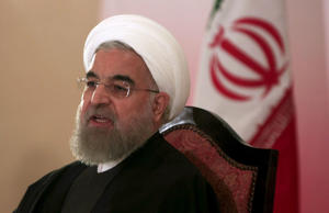 Iran's President Hassan Rouhani speaks during a news conference in Islamabad, Pakistan, March 26, 2016.
