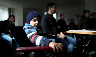 "Migrants listen to a German lesson at the accommodation for migrants ""Spree Hotel"" in Bautzen, Germany, March 22, 2016. The accommodation ""Spree Hotel"" is a former a four-star hotel and was turned into a home for 240 refugees by owner Peter Kilian Rausch in 2014. Picture taken March 22, 2016. REUTERS/Ina Fassbender"
