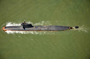 File: In this handout photograph released by The Indian Navy on May 1, 2016, India's Scorpene Class Submarine 'Kalivari' takes part in its maiden sea trials off the coast of Mumbai on May 1, 2016.